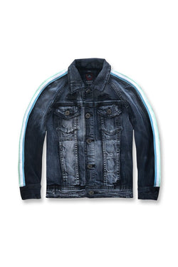 Jordan Craig - Kids-Grand Prix Striped Denim Jacket (Midnight Carnival)