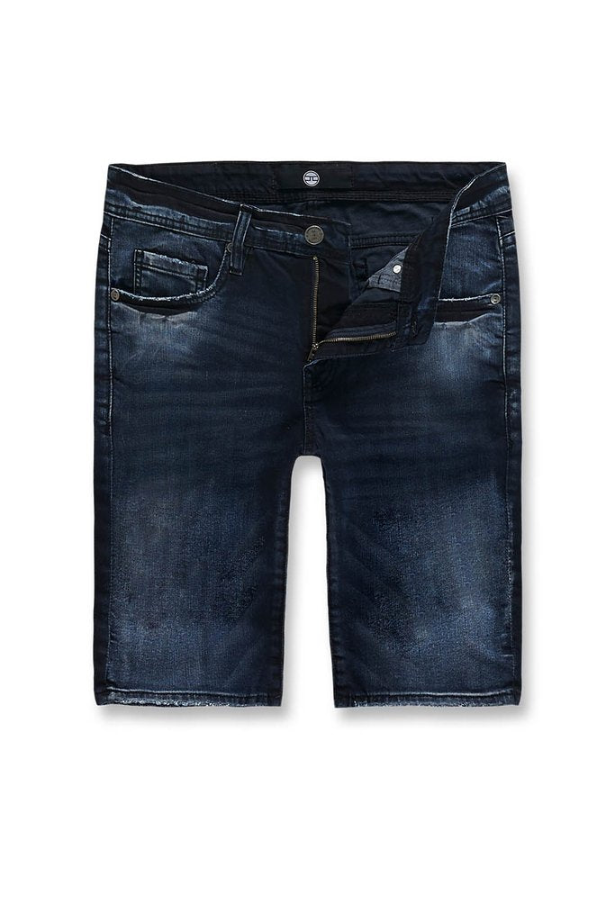 Jordan Craig-Big  Men's Newcastle Denim Shorts-Midnight Blue-J3158SX