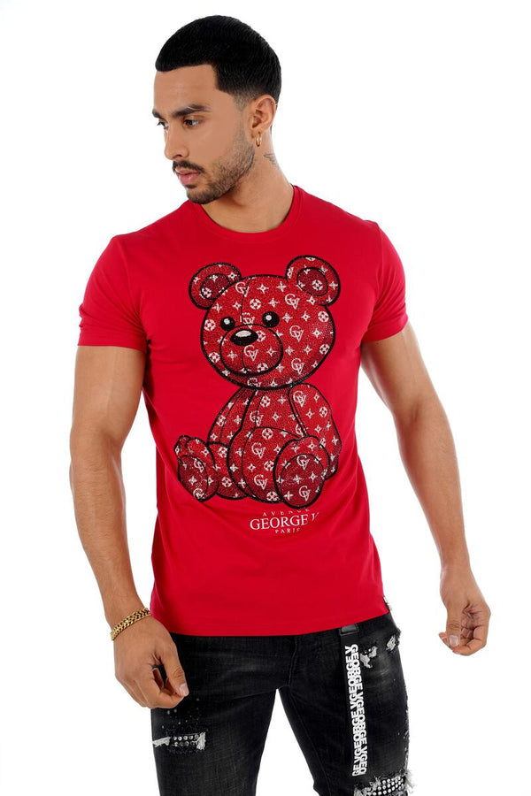 George V-Teddy Shirt-Red
