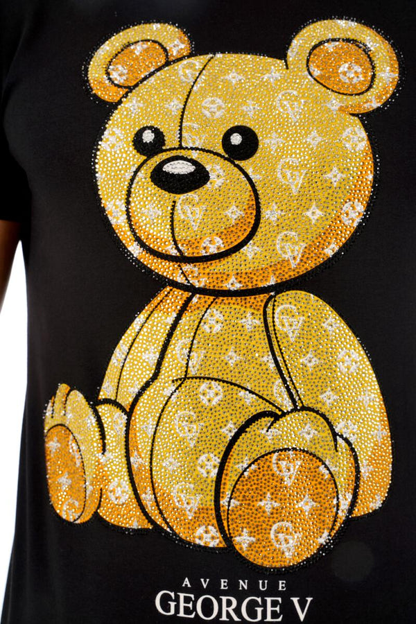 George V-Teddy Shirt-Black/Gold