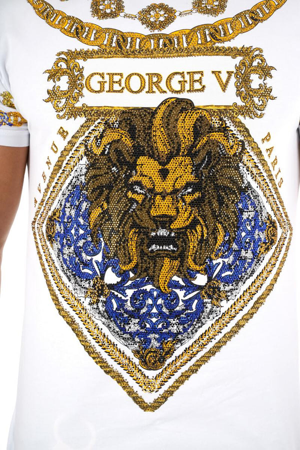 George V-GV Leo Tee Shirt-White