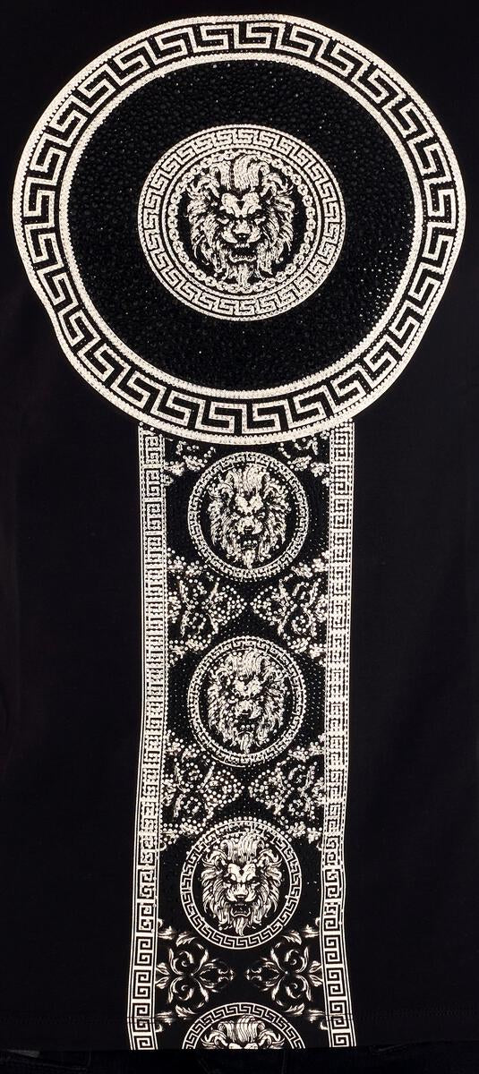 George V-Leo Patches Tee-Black