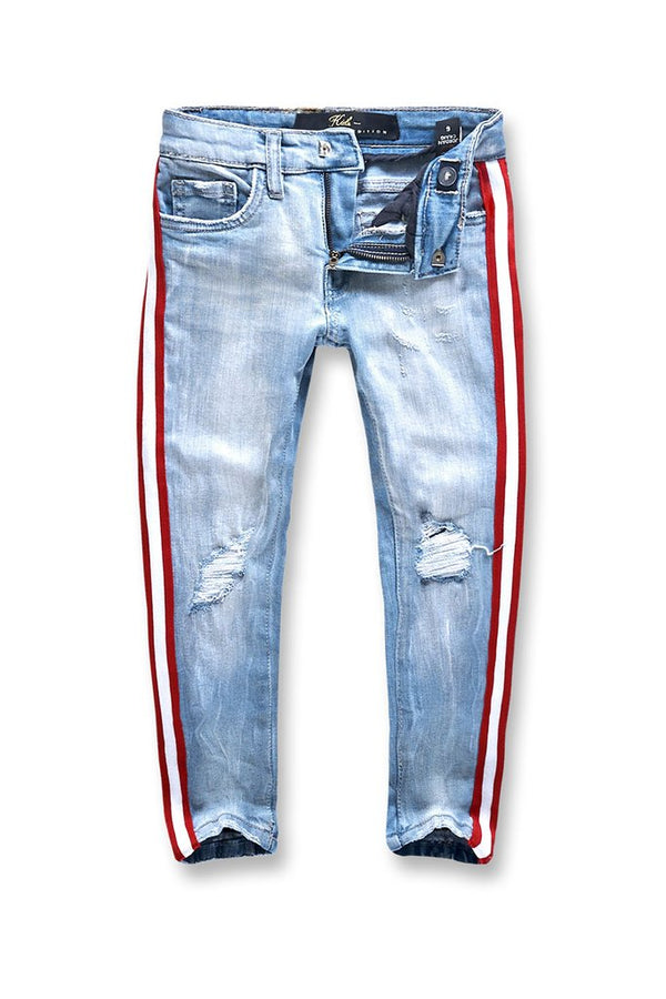 JORDAN CRAIG-Kids- RED/WHT Striped Denim (Ice Blue)