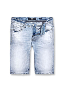 Jordan Craig-Big  Men's Newcastle Denim Shorts-Ice Blue-J3158SX