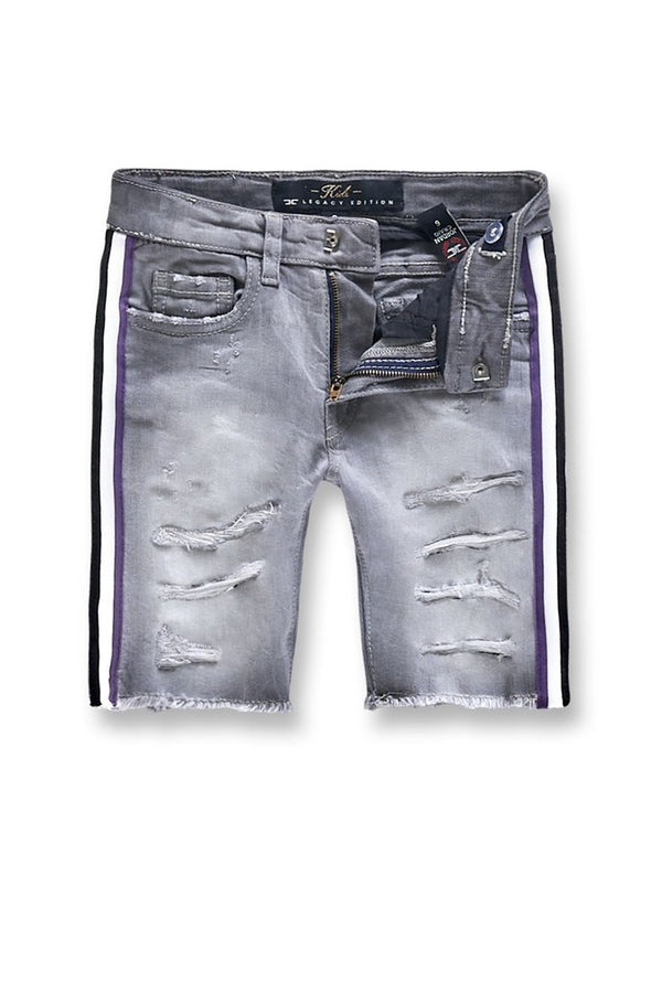 Jordan Craig Kids-Daytona Striped Shorts-Grape-J3157SKG
