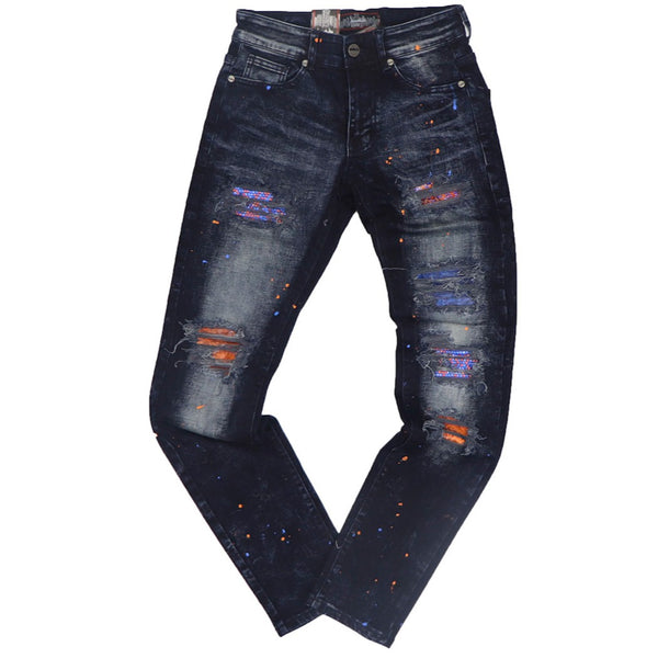 Denimicity-Dark Blue Denim Jeans