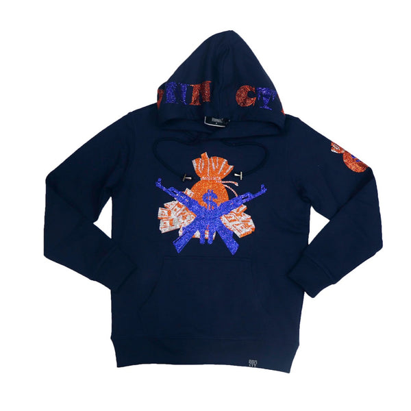 Denimicity-Money Bag Hoodie-Navy Blue
