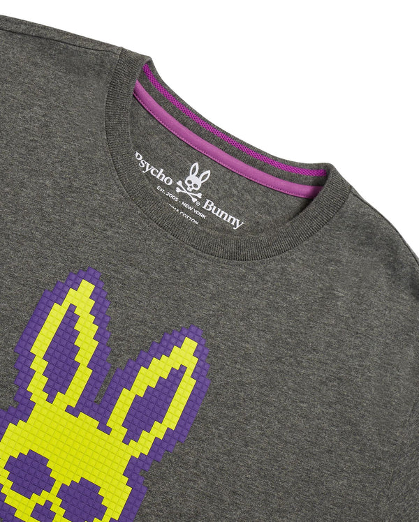 Psycho Bunny Kids-Hatton Graphic Tee-Heather Silver