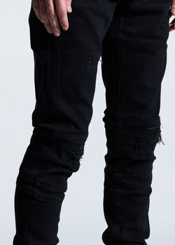 Crysp Denim-Hudson Skinny Jeans-Black