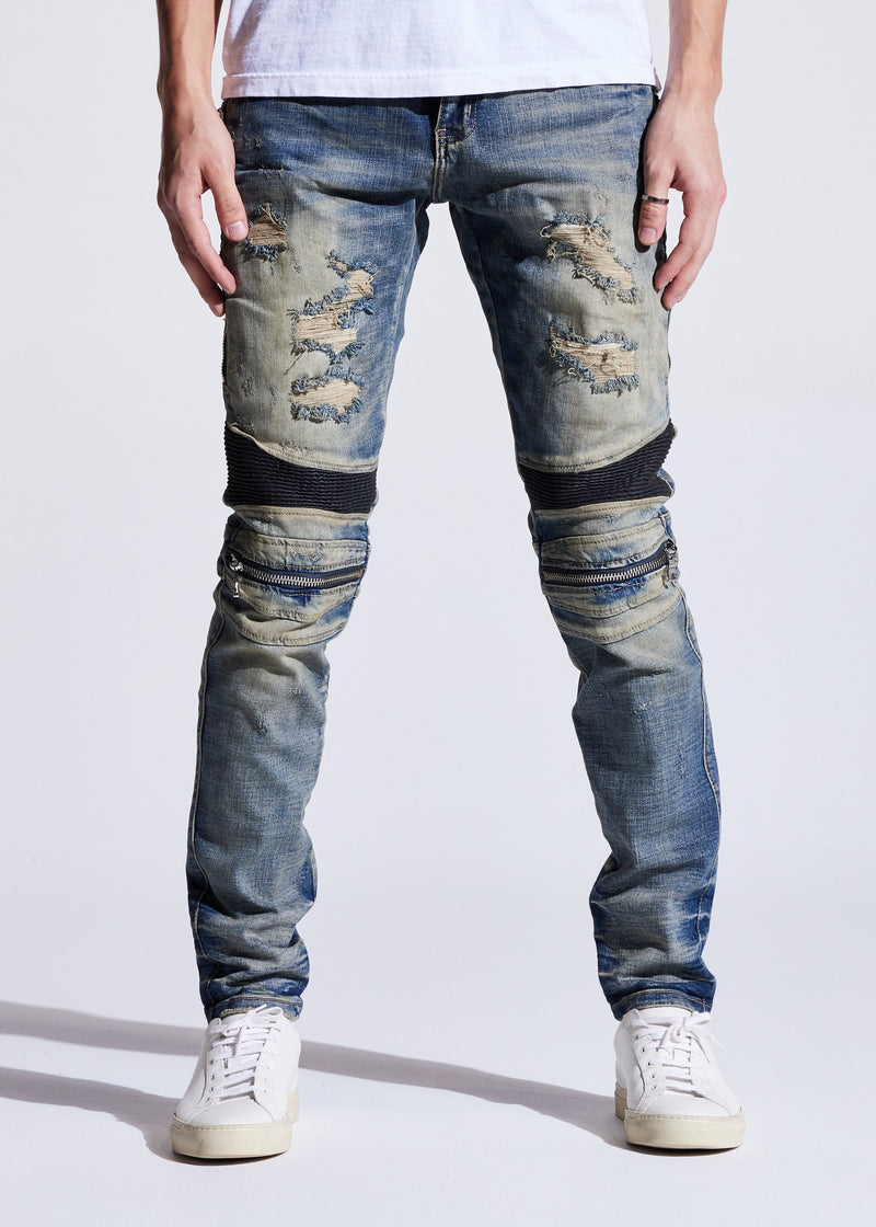 Embellish NYC-Sunny Biker Distressed Indigo