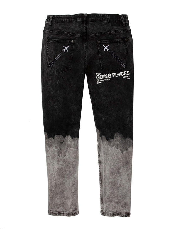 Born Fly-O'Hare Denim Jeans-Black