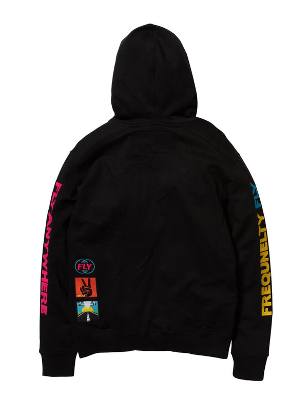 Born Fly-LAX Graphic Hoody-Black