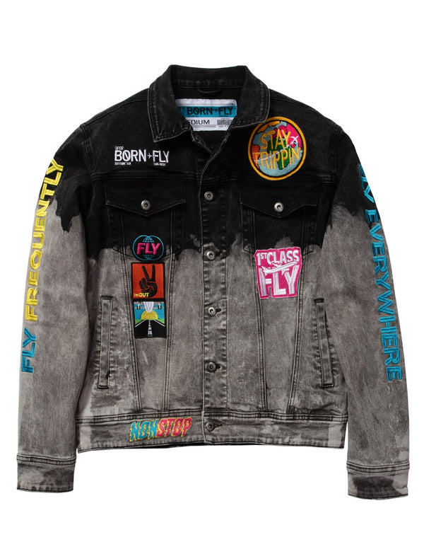 Born Fly-Laguardia Denim Jacket-Black
