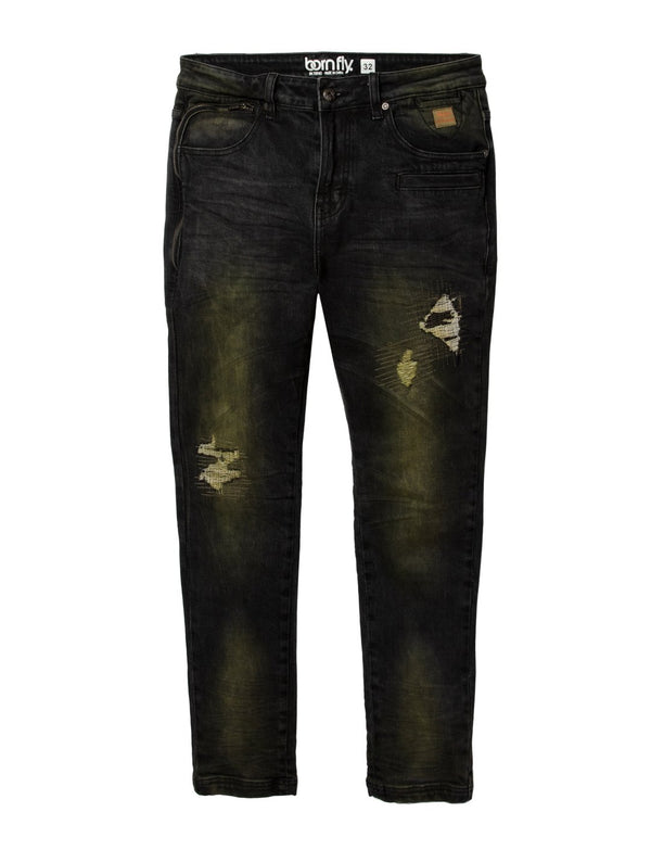 Born Fly-Cash Dollar Denim Jeans