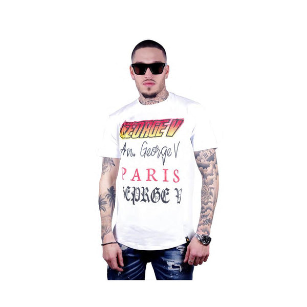 George V Paris MEN'S TEE-SHIRT GV2005-White/Red