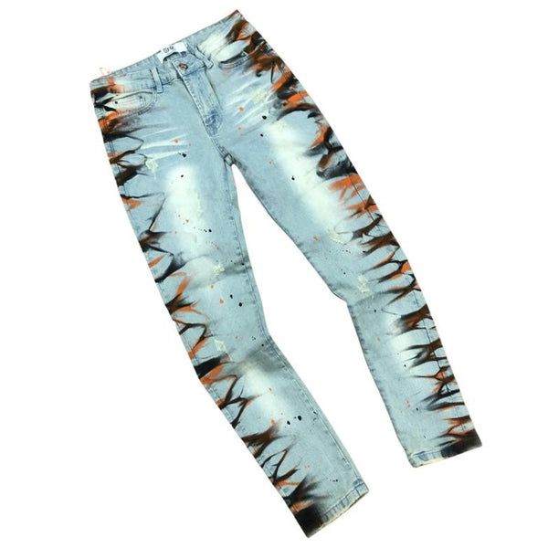 DNA Jeans-Orange Thunder Jeans-Blue