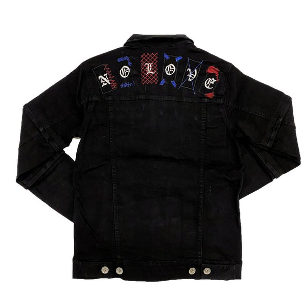 Focus-Heart Breaker Denim Jacket-Black