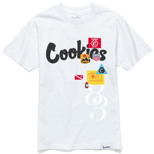 Colores Logo Tee-White/Black