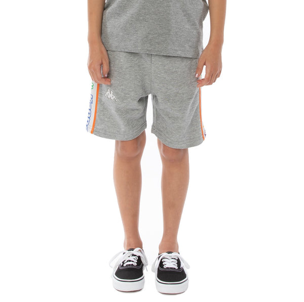 Kappa Kids-Logo Tape Asved Short-Grey White Rock
