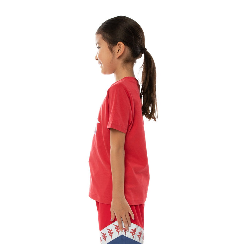 Kappa Kids-Authentic Dris Reflective Tee-Red Blue Reflective