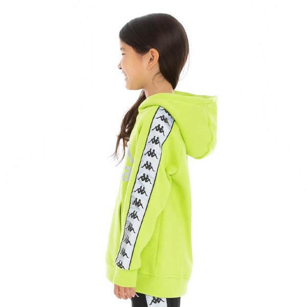 Kappa Kids-222 Banda Deniss 2 Reflective Hoodie-Green Lime