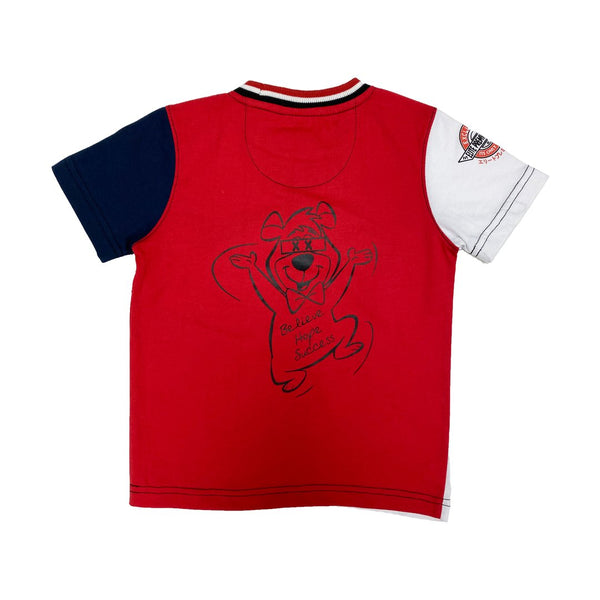 Elite Denim Kids-Humble Bear-White/Red-319RWB/JR
