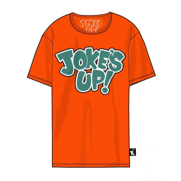 Jokes Up Tee-Orange