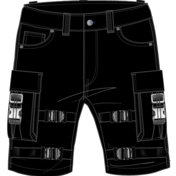 Preme-The Traveler Cargo Shorts-Black