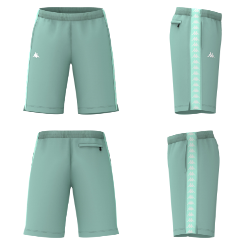 Kappa-222 Banda Treadwellz-Green Aqua/White Antique-304KQ20