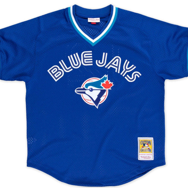 Roberto Alomar 1993 Authentic Mesh BP Jersey Toronto Blue Jays