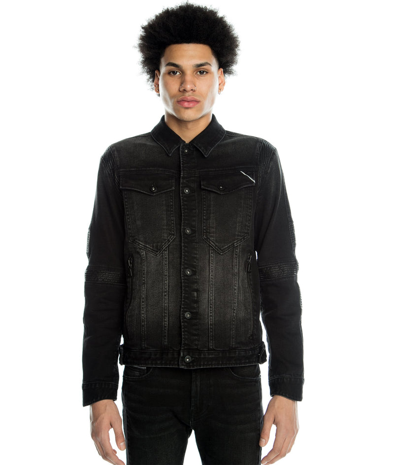 Cult of Individuality-Moto Type II Jacket Stretch-Onyx-620B10-TM10A