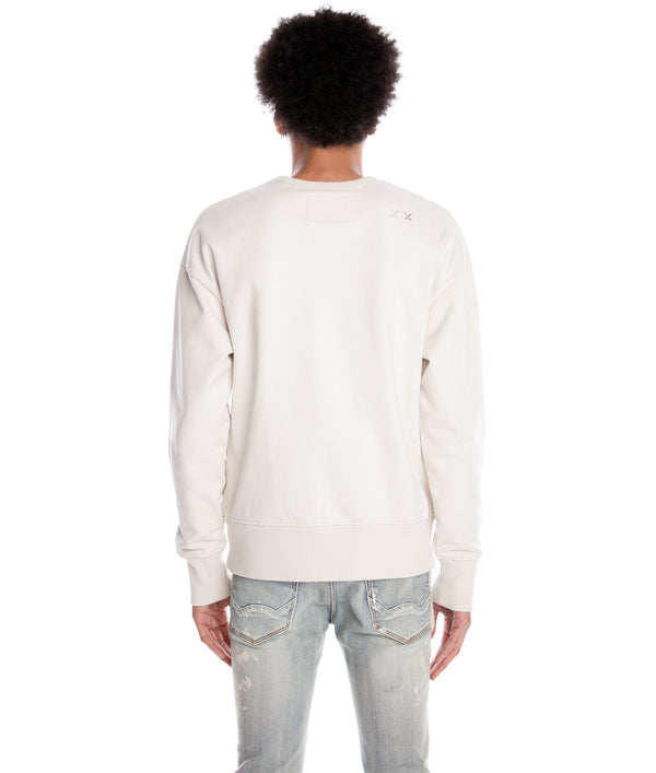 Cult of Individuality-Crew Neck Sweat Shirt-Cream-620B8-FC43A