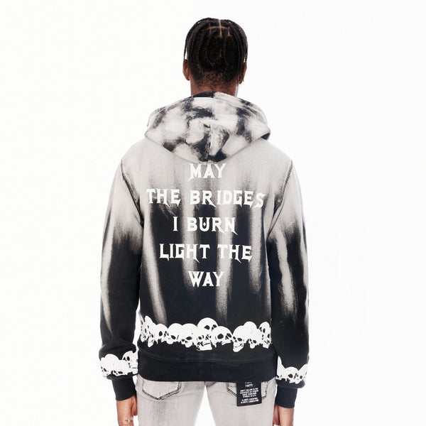 Cult Of Individuality-Full Zip Hooded Sweatshirt-Plaster-621A1-HP25A