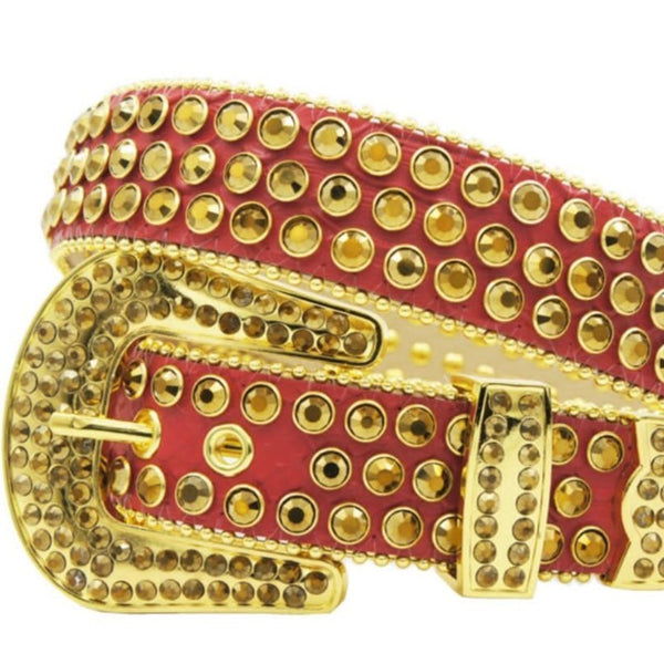DNA Belt-Red/Gold