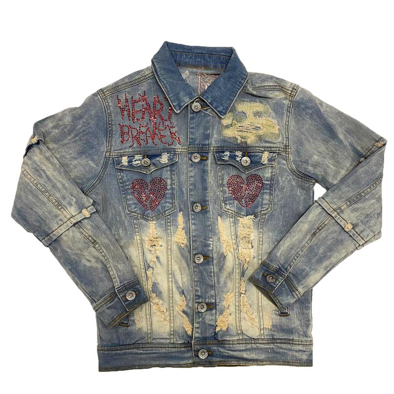 Focus-Heart Breaker Denim Jacket-Vintage