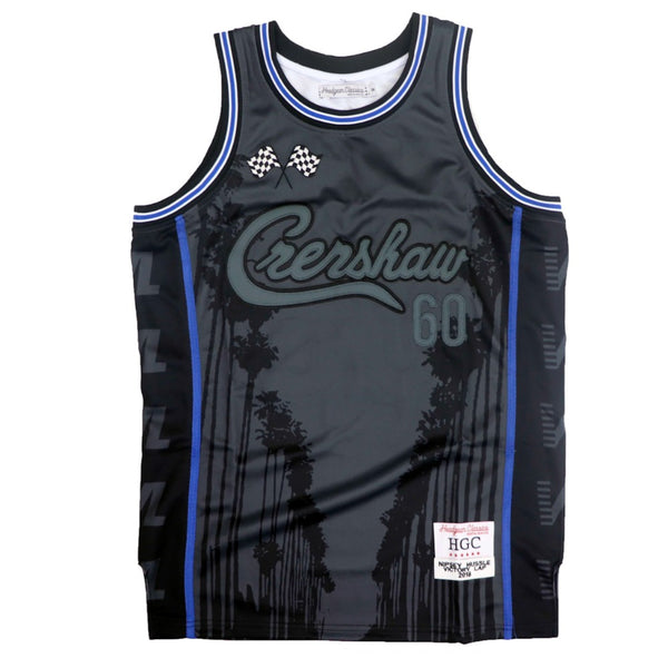 Nipsey Palm Tree Basketball Jersey-Black