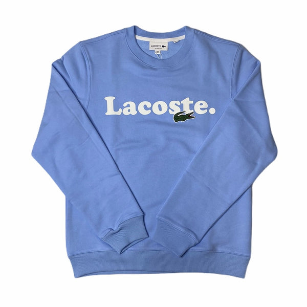 LaCoste-Lacoste And Crocodile Branded Fleece Sweatshirt-Blue • HBP-SH2173