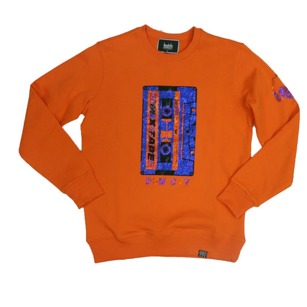 Denimicity-Mix Tape Crewneck-Orange