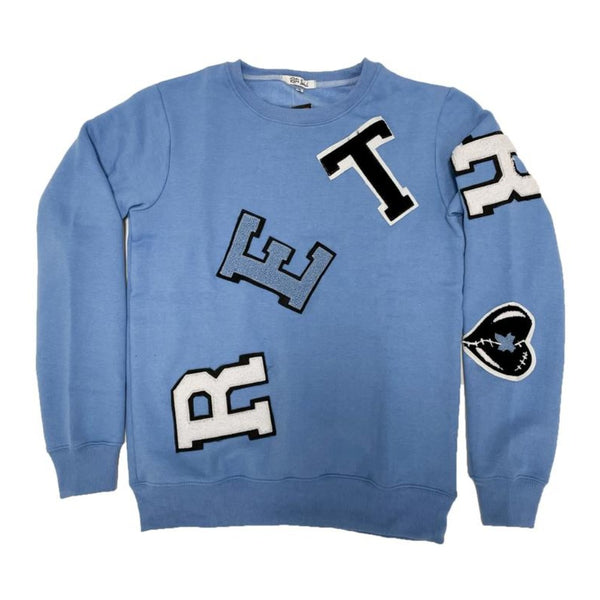 Retro Label-Retro Crewneck-University Blue