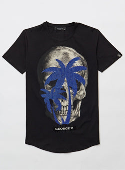 George V Paris MEN'S Skull TEE-SHIRT-GV520-Black