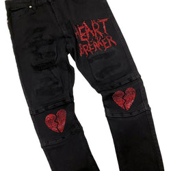 Focus-Heart Breaker Denim Jeans-Black