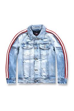 Jordan Craig-Kids- RED/WHT STRIPED DENIM JACKET (ICE BLUE)