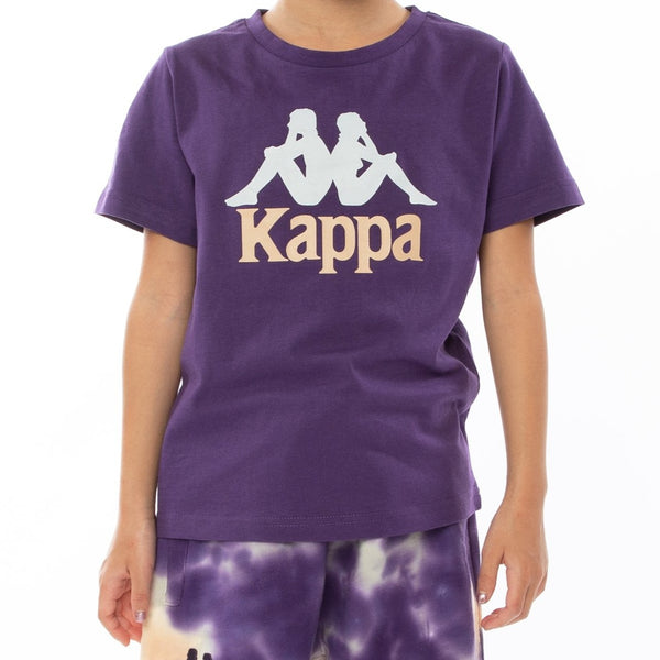 Kappa Kids-Authentic Dris Reflective Tee-Violet Brandy Reflective