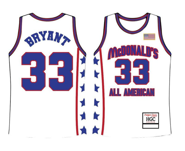 Head Gear- Kobe McDonalds White All American Jersey-White