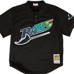 Boggs Black 1998 Tampa Bay Rays Authentic Mesh Batting Jersey