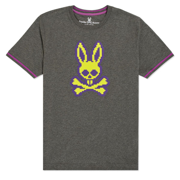 Psycho Bunny-Hatton Graphic Tee-Heather Silver