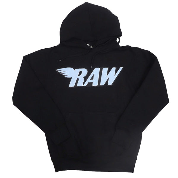 Rawyalty-RAW Baby Blue Chenille Hoodie-Black