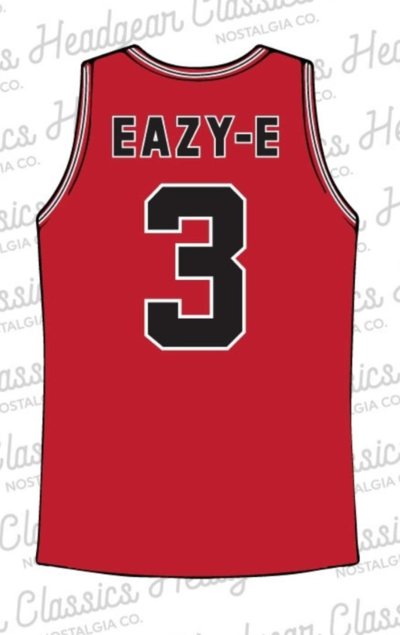 Headgear-N.W.A Eazy-E Basketball Jersey-Red