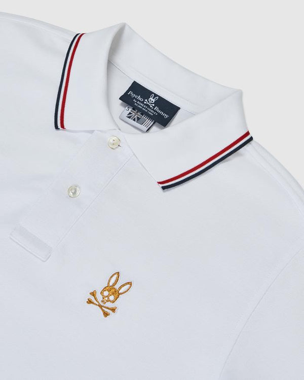 Psycho Bunny-ST LUCIA POLO-WHITE-B6k273g1pc