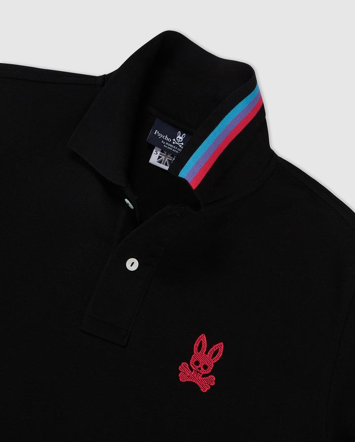 Psycho Bunny-Cunard Polo-Black-B6K698J1PC